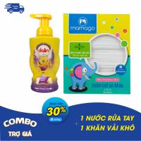 Combo 01 Nước rửa tay Dalin + 01 Khăn vải khô đa năng Mamago 110pcs