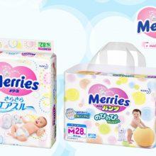 Bỉm Merries – Sự lựa chọn hàng đầu cho bé