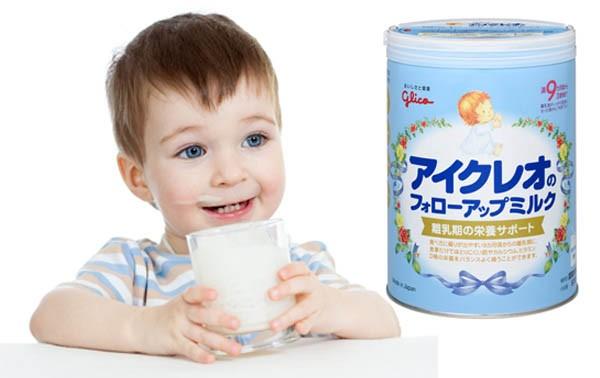 bé chắc khỏe khi uống sữa Glico số 9