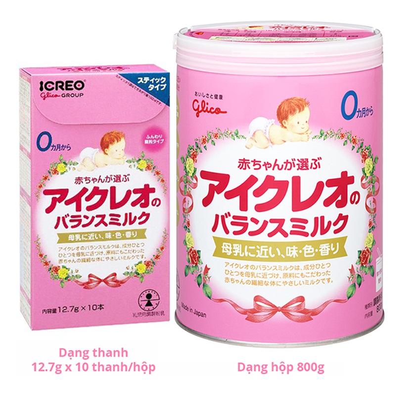 Sự khác biệt giữa sữa Glico Icreo số 0 và số 9