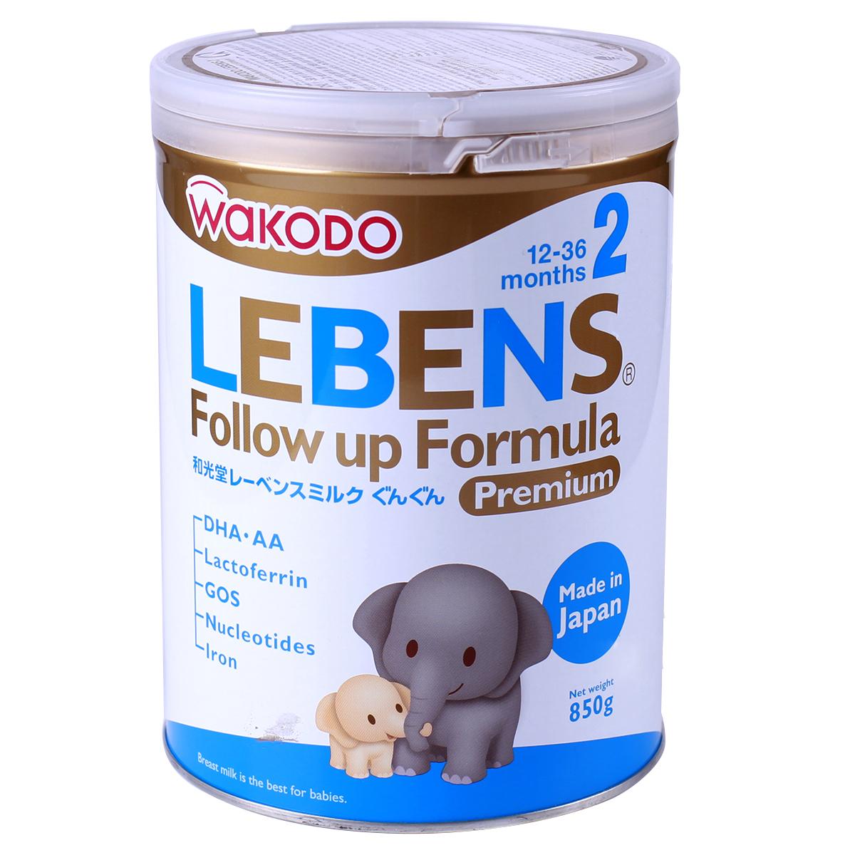 cách pha sữa wakodo số 2