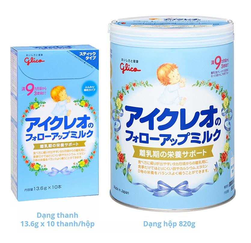 Hướng dẫn chi tiết nhất cách pha sữa Icreo Glico số 9