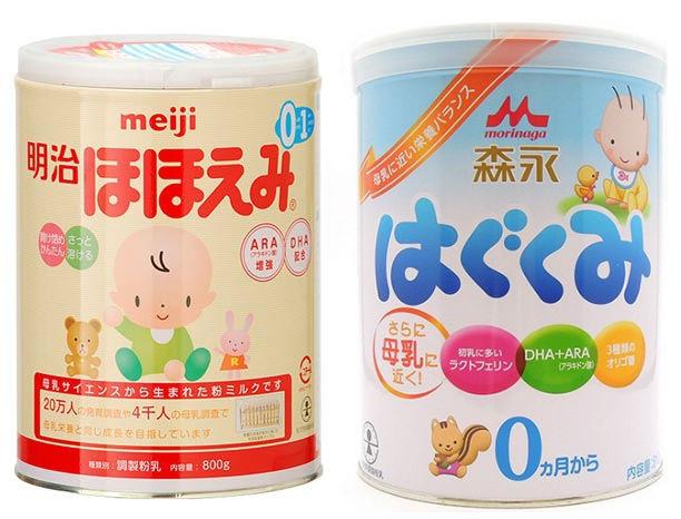 Sữa Meiji và sữa Morinaga của Nhật - sữa nào mát hơn?
