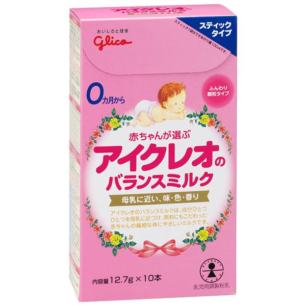 Cách pha sữa Icreo Glico thanh số 0 cho bé 0-12 tháng tuổi