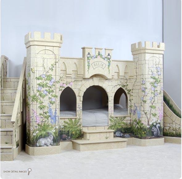 Mẫu giường tầng lâu đài độc đáo