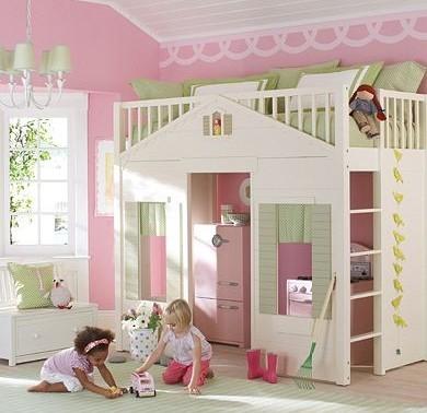 Các mẫu giường tầng cho bé gái dễ thương