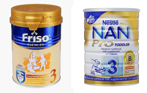 So sánh sữa bột Nan Pro 3 và sữa bột Friso Gold 3