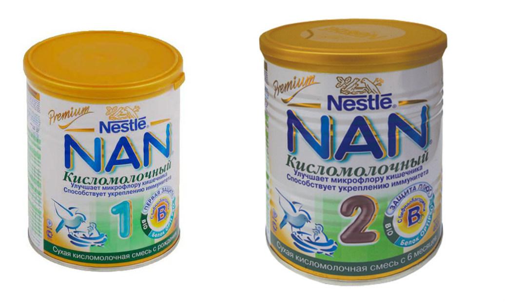 Sữa Nan chua số 1, số 2