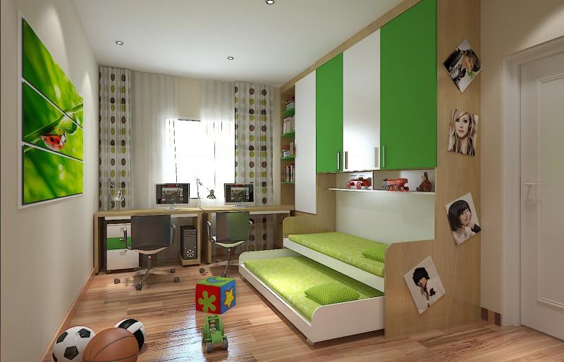giường tầng hộp cho các bé