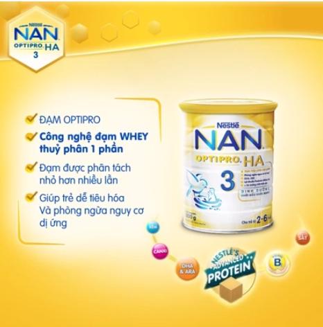 Công dụng của sữa Nan HA Optipro 3
