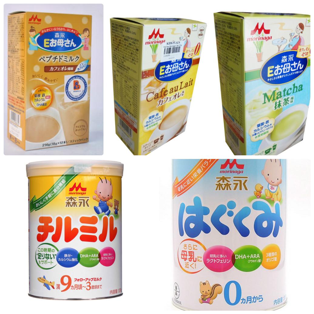 Sữa Morinaga bà bầu và sữa Morinaga số 0, số 9 cho bé