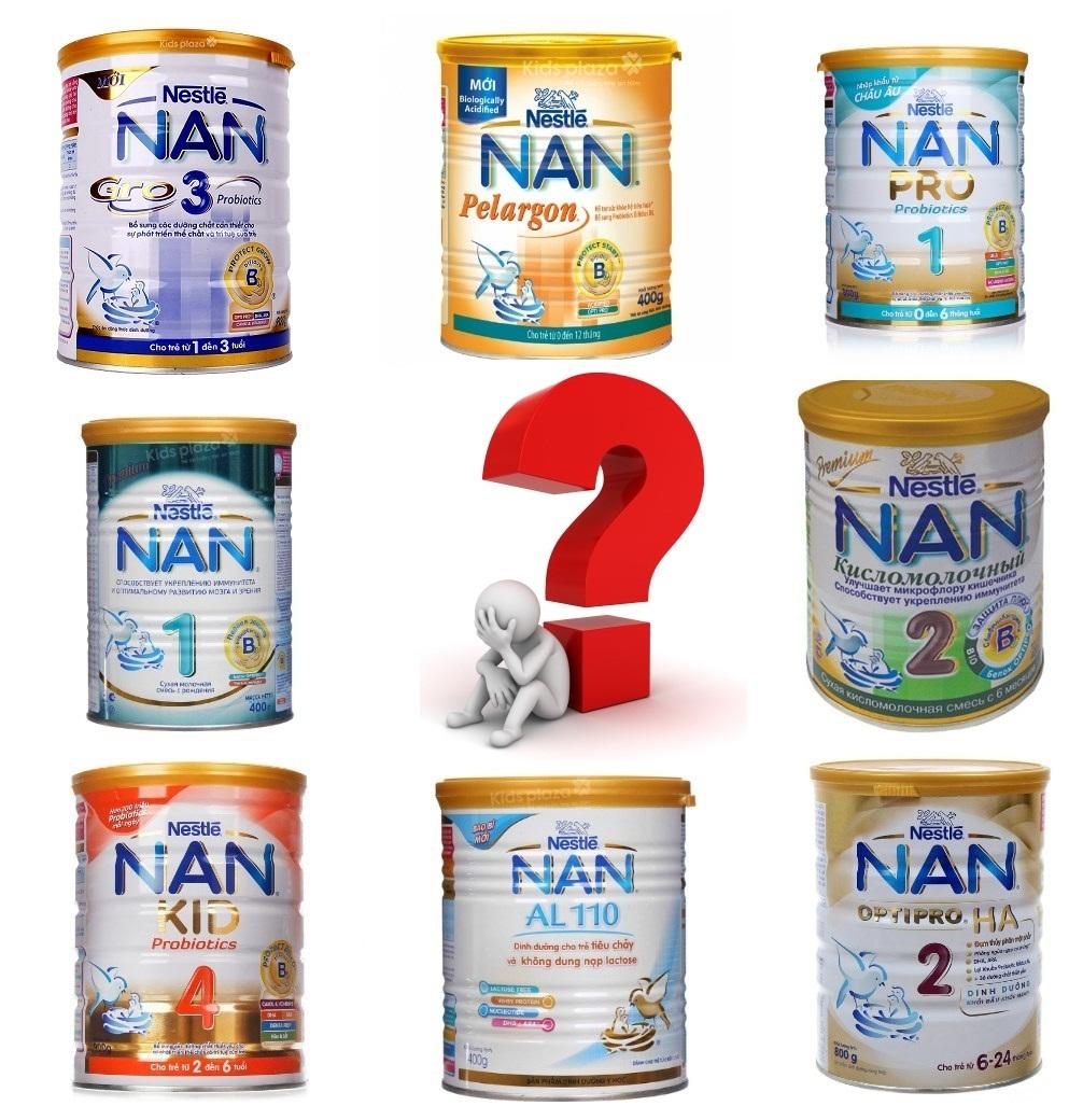 Sữa Nan nào tốt nhất cho trẻ?