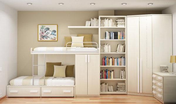 giường tầng cho căn phòng hẹp