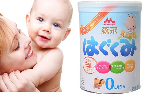 Sữa Morinaga Nhật số 0 cho trẻ sơ sinh