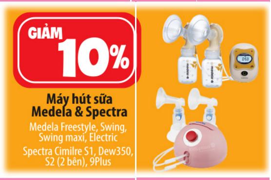 khuyến mãi giảm giá máy hút sữa spectra