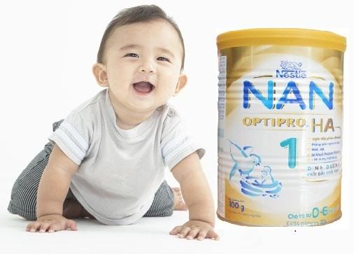 Sữa Nan cho trẻ sơ sinh chống dị ứng - sữa Nan HA số 1