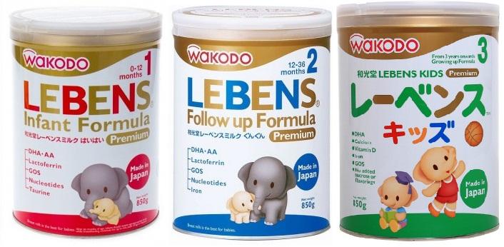 5 ưu điểm nổi bật của dòng sữa Wakodo Lebens Nhật