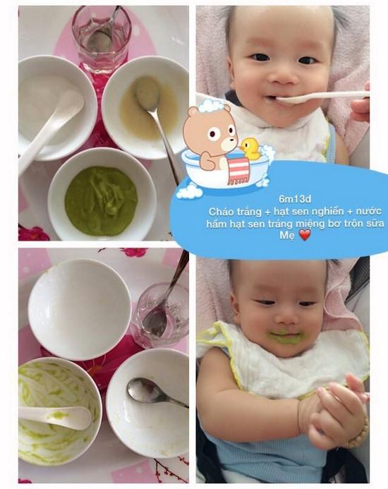 Chia sẻ thực đơn ăn dặm lý tưởng cho bé 6 tháng tuổi cháo trắng hạt sen nghiền bơ trộn sữa