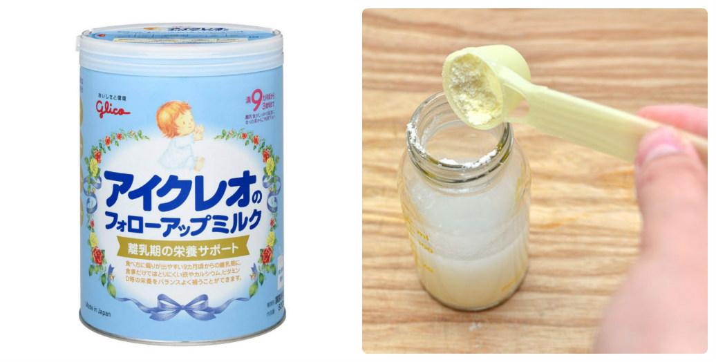 Cách pha sữa Glico số 9 cho bé 9-36 tháng tuổi