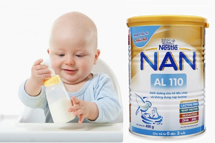 Hướng dẫn cách pha sữa Nan AL110 cho trẻ tiêu chảy