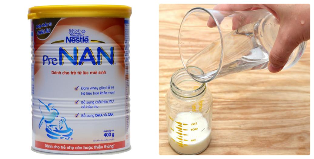 cách pha sữa Nan Pre cho trẻ nhẹ cân, thiếu tháng