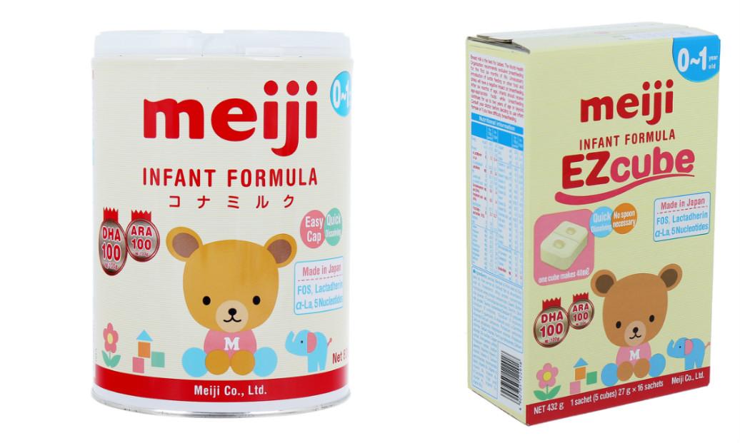Sữa Meiji số 0 Infant Formuala dạng bột và thanh dành cho thị trường Việt Nam nhập khẩu và phân phối độc quyền tại Công ty cổ phần Sóng Thần Hà Nội