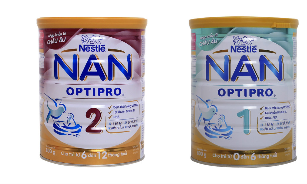 Sữa Nan Pro số 1, số 2