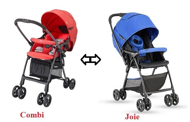 So sánh 2 dòng xe đẩy cao cấp Combi và xe đẩy Joie