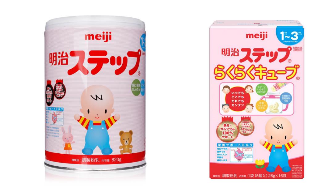 Sữa Meiji số 9 dạng bột và dạng thanh cho bé 1-3 tuổi