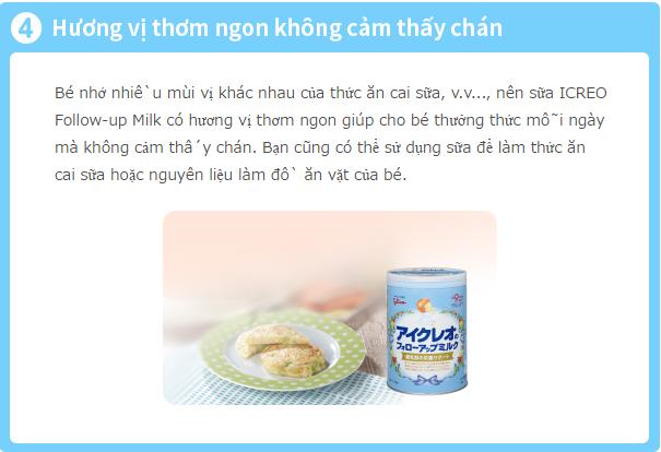 Sữa Glico số 9 - Hương vị thơm ngon không cảm thấy ngán có thể là nguyên liệu làm đồ ăn vặt cho bé