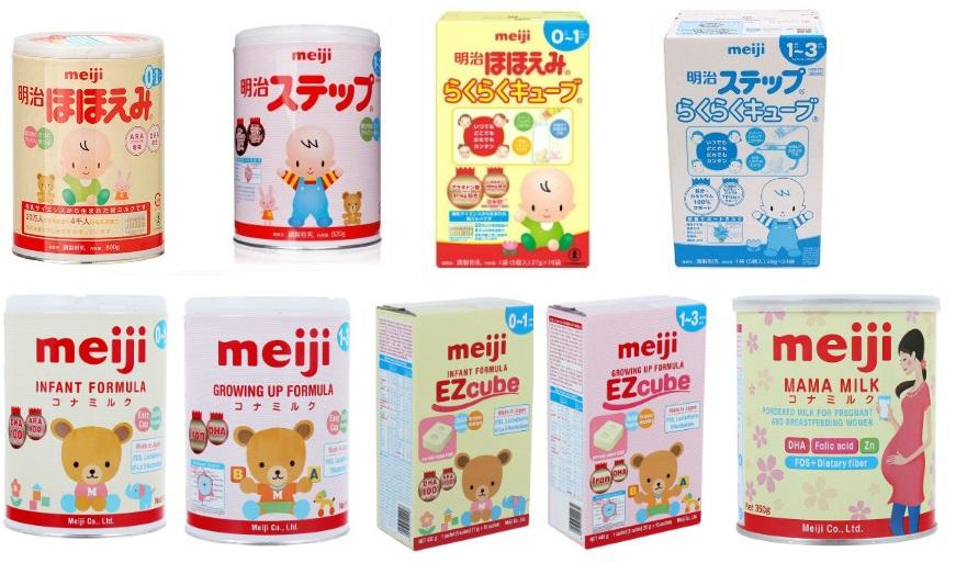 Bảng giá sữa Nhật Meiji