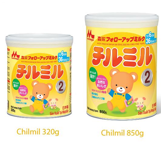 Các loại sữa Morinaga số 2 (sữa Chilmil)