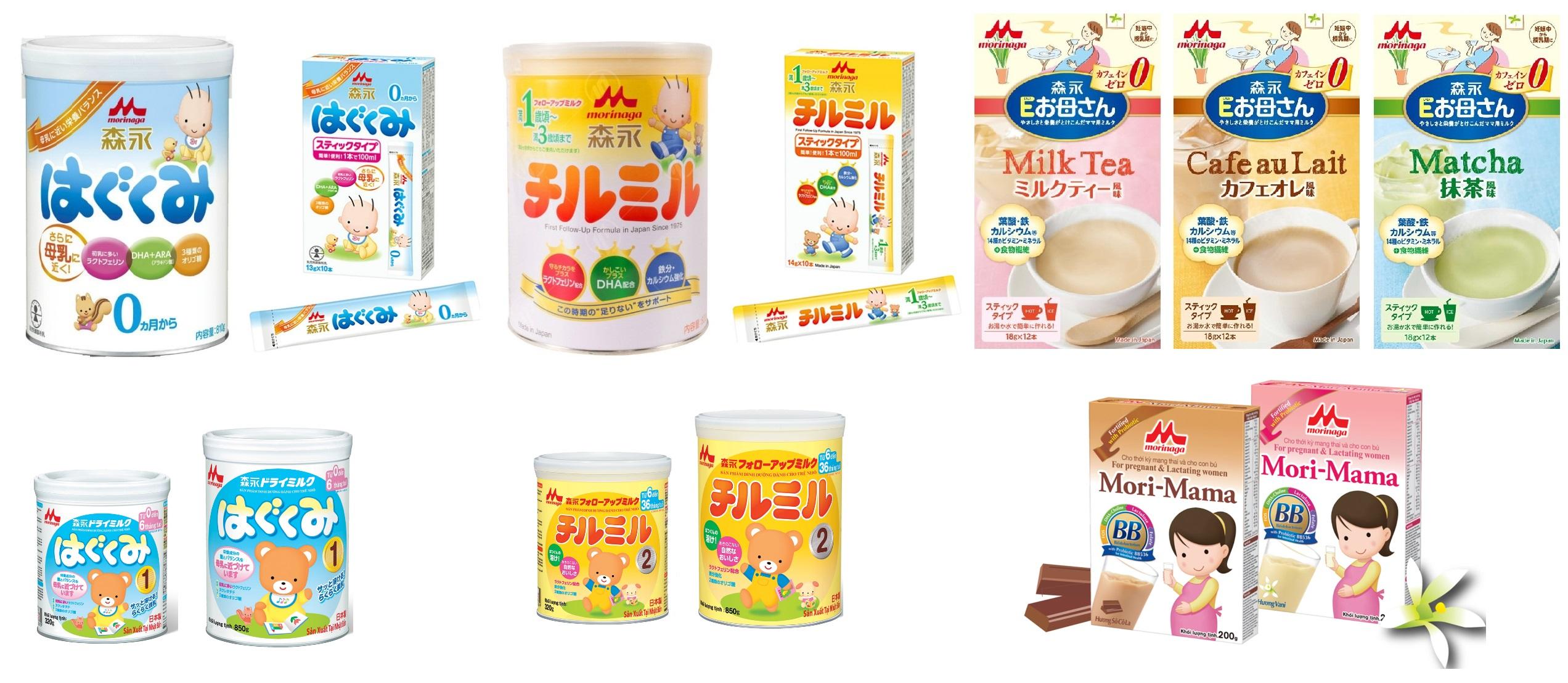 Bảng giá sữa Nhật Morinaga