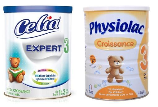 So sánh sữa Celia expert số 3 và sữa Physiolac số 3