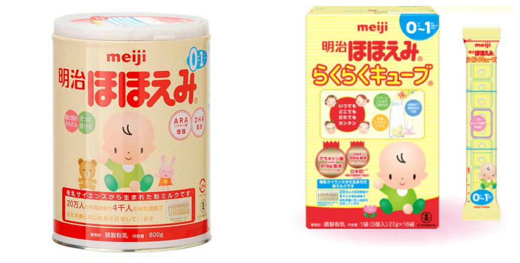 Sữa Meiji số 0 dạng bột và thanh