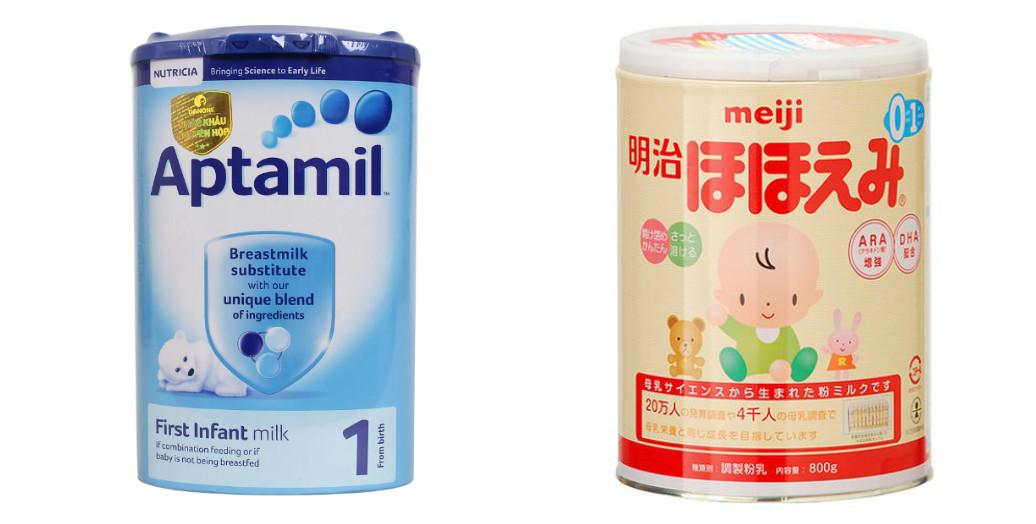 So sánh sữa Meiji và sữa Aptamil