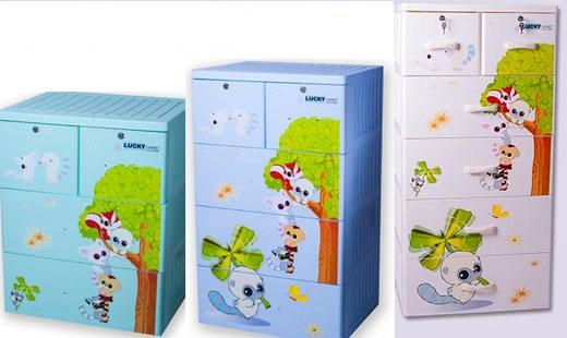 Tủ nhựa Việt Nhật 5 tầng 6 ngăn tiện ích, giá tốt