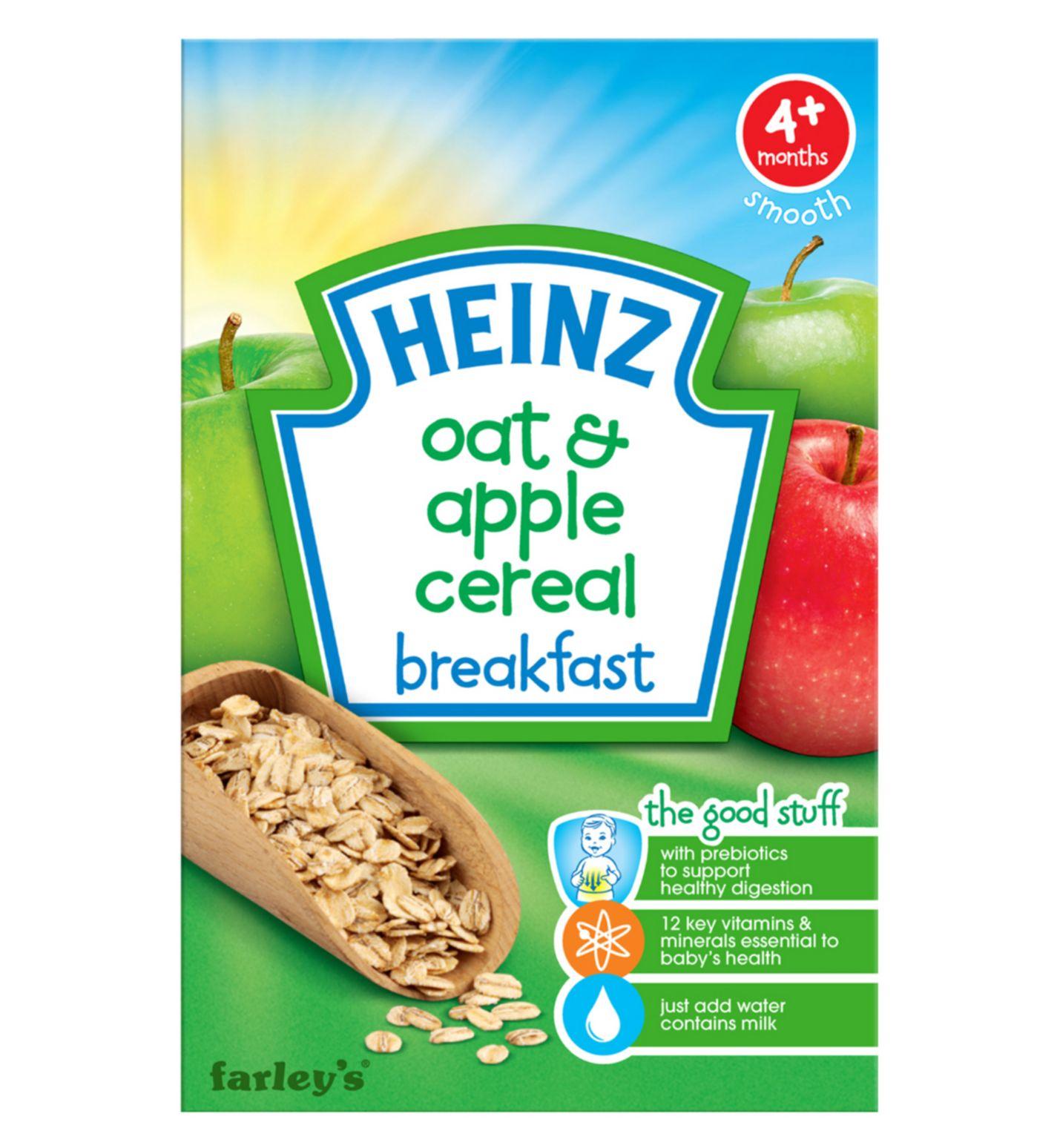 Bột ăn dặm Heinz vị ngũ cốc yến mạch và táo 4m+
