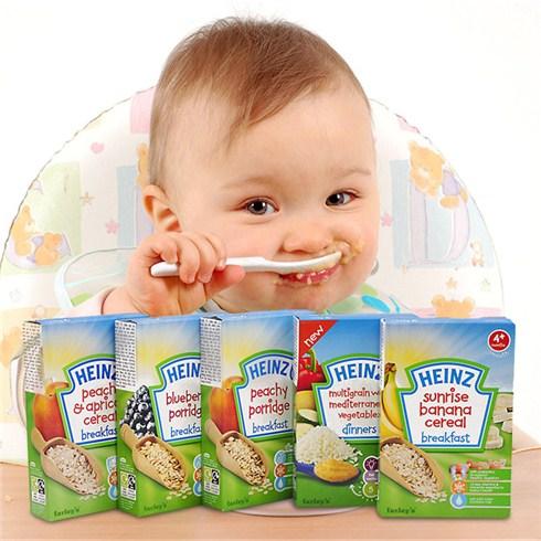 Bột ăn dặm Heinz cho bé 4 tháng tuổi có những vị nào?
