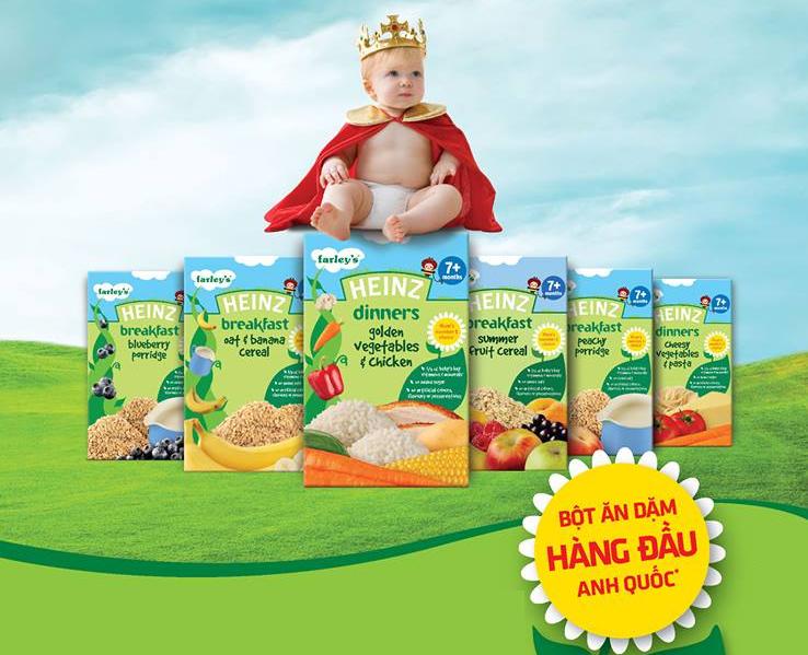 Vì sao bột ăn dặm Heinz được các mẹ ưa chuộng cho bé ngay từ khi 4 tháng tuổi?