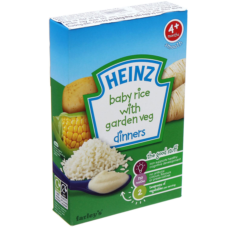 bột ăn dặm Heinz vị gạo, rau củ xay nhuyễn