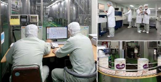 Quy trình khép kín sản xuất sữa Grand Noble Hàn Quốc