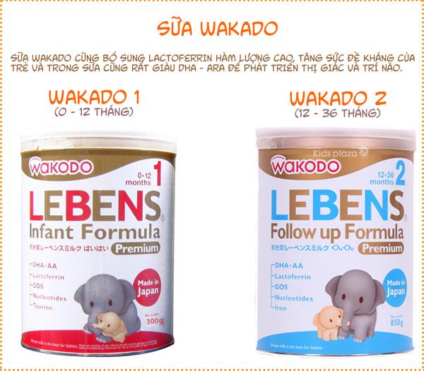 Sữa Wakodo Lebens có những loại nào?