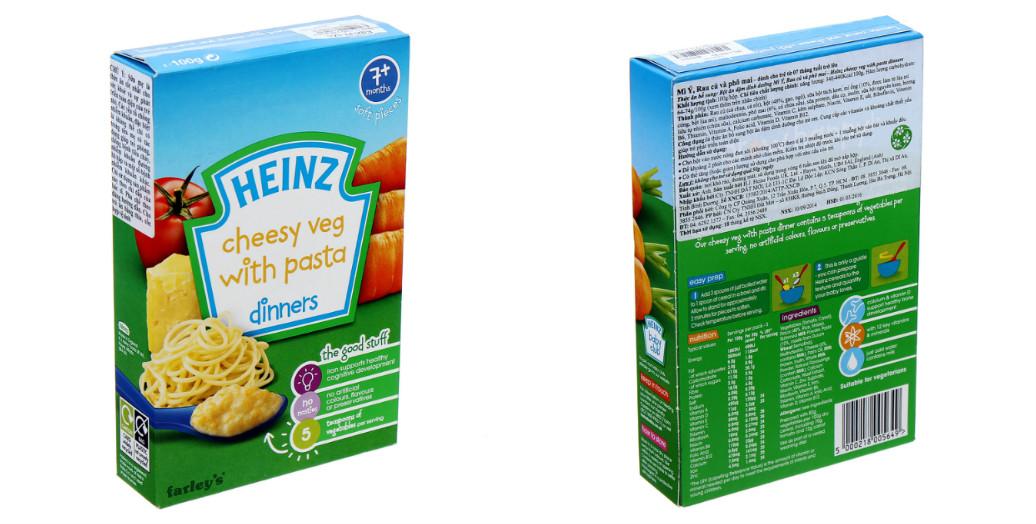 Mách mẹ cách pha bột ăn dặm Heinz mỳ Ý rau củ, phô mai đúng chuẩn nhất
