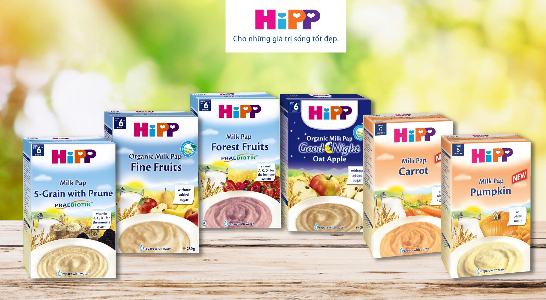 Mách mẹ cách phân loại các loại bột ăn dặm HiPP