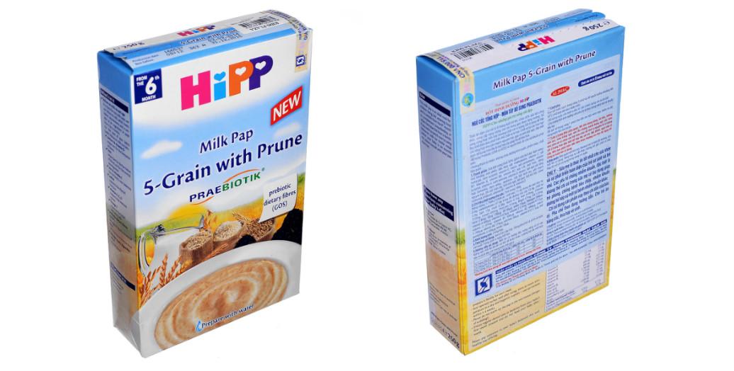 Cách pha và sử dụng bột dinh dưỡng Hipp vị ngũ cốc tổng hợp – mận tây