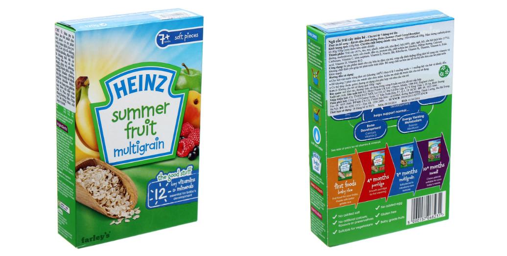 Hướng dẫn sử dụng bột ăn dặm Heinz vị ngũ cốc trái cây mùa hè