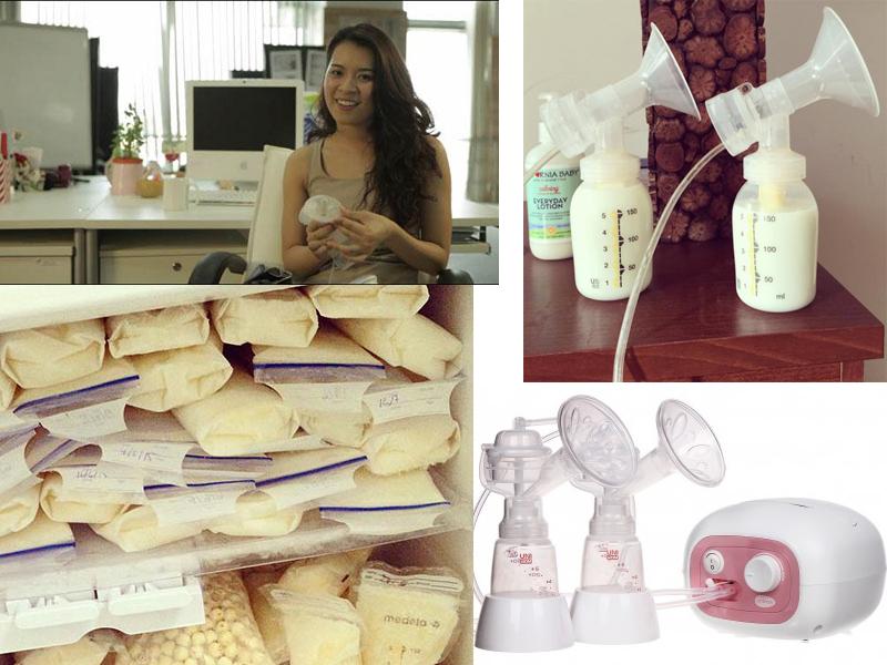 cách hút sữa mẹ tại văn phòng