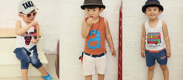 Bộ sưu tập quần áo cộc cho bé trai siêu kute