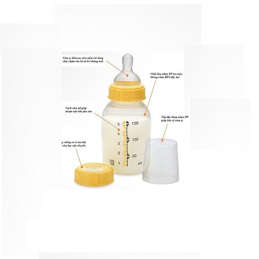 Thiết kế bình sữa Medela đơn giản nhưng lại hết sức ấn tượng